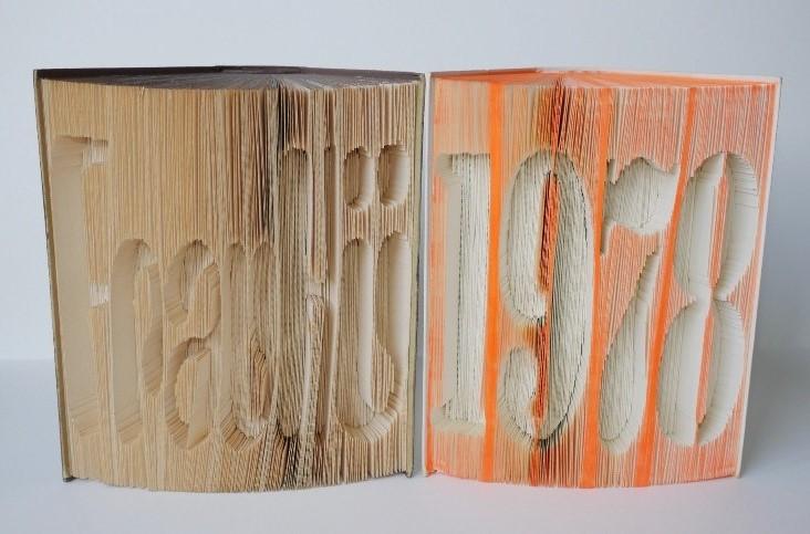 Buch-Origami Jahreszahl oder Logo ab Eur 30,-